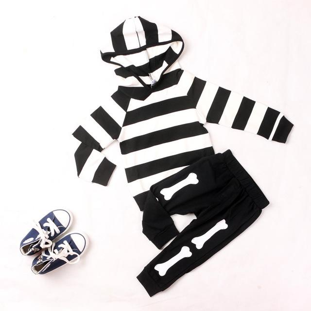 Coreano menino & menina Hoodies & camisolas roupas de algodão listrado roupas para o outono Clothings