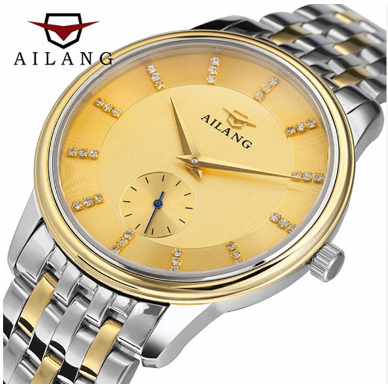 Men watches 2017 AILANG automatic auto-wind date mens watches top brand luxury mechanical Stainless steel watch mce top brand mens watches automatic men watch luxury stainless steel wristwatches male clock montre with box 335