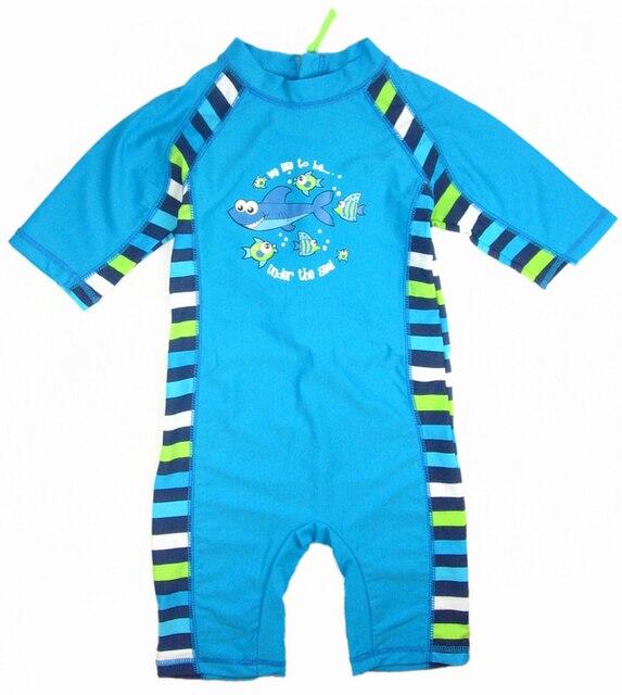 Baby Cartoon stripe swimsuits Boy swimwear UV surf clothes swimming costume bathers blue with Uv UPF50  sc 1 st  AliExpress.com & Baby Cartoon stripe swimsuits Boy swimwear UV surf clothes swimming ...