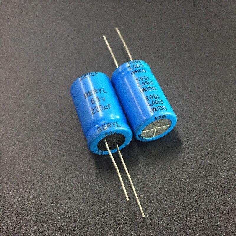 5pcs 220uF 63V BERYL NQ 16x27mm 63V220uF Bipolar Non Polarity Capacitor