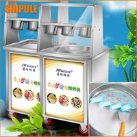 Top Shelves Single Pan Thailed Ice Roll Machine Commercial Fried Ice Cream Machine Ice Yogur Machine
