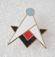 Wholesale Square & Compasses Blue Lodge Quad Masonic Freemason Lapel Pin