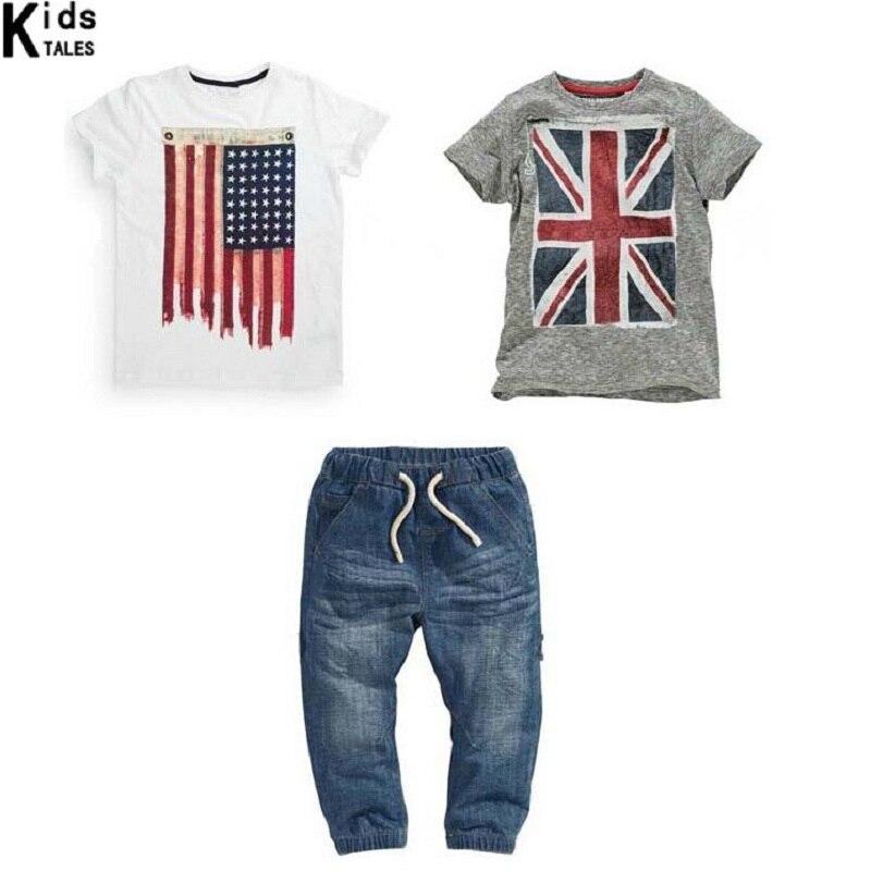 Retail 2018 hot sale summer clothing set baby boys clothes children clothes children sports suits boys denim suit 3pcs