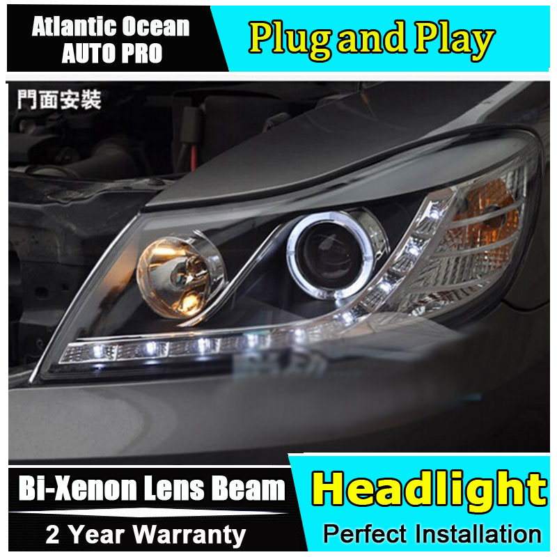 2010 2011 2012 For skoda octavia headlights car styling U LED light guide Angel eyes DRL parking For octavia A5 head lamp