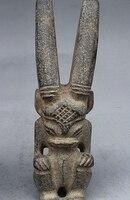8 Китайский Старый Хуншань культура древний Нефритовый камень Статуэтка Дракона Скульптура