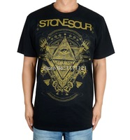 Free shipping Stone Sour Pyramid NEW Mens 100% cotton black T-Shirt