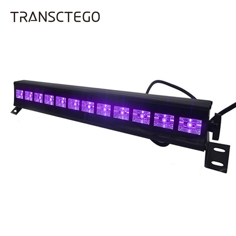 UV Wall Washer Black Light Disco Light 36W 12 LED Blacklight Stage Lighting Indoor Bar Fluorescent Lamp For Christmas Party Lamp led uv color bar wall washer light 8x3w bar laser projection lighting party club disco light for christmas indoor stage lights