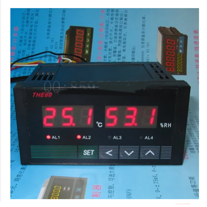 Temperature and humidity controller intelligent digital display control instrument With  alarm control output Thermometer tester e5an q1tc 300 temperature controller digital intelligent temperature control meter 100 240v ac tools