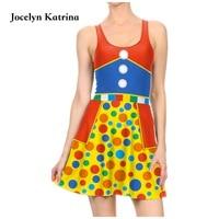 Jocelyn Katrina 3D Printed Mini Dress Pleated A Line Summer Beach Sundress Cute Dress O Neck