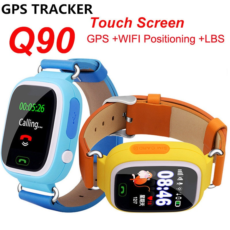 YourTribe New Q90 GPS Phone Positioning Fashion Children Watch 1 22 Inch Color Touch Screen WIFI