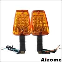 Motocicleta led turn signal lights blinkers frente indicadores de volta para mz etz 251 flash luzes