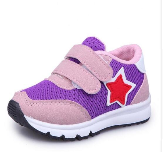 Детская спортивная обувь Новая осень Чистая дышащая модная детская одежда мальчиков обувь анти-скользкие девочек кроссовки обувь малыша