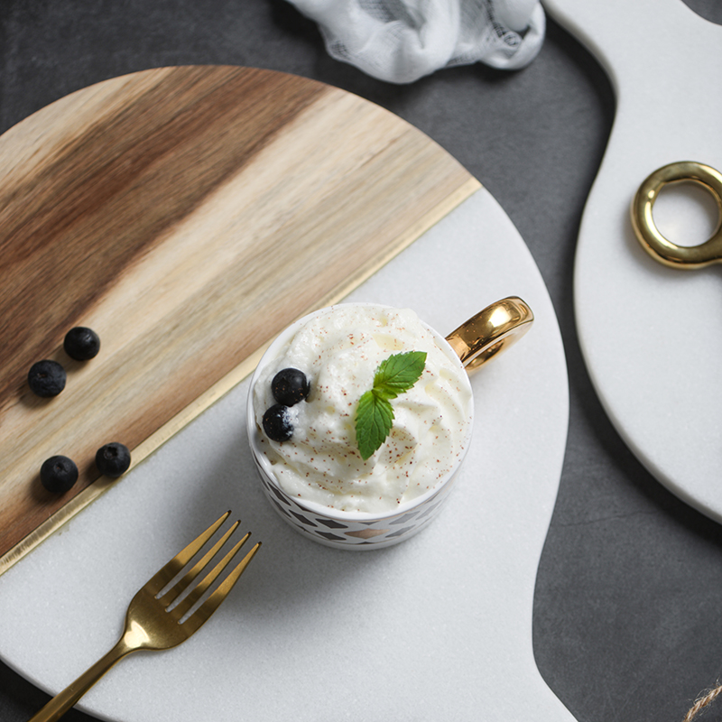 Marble & Wooden Tray 3