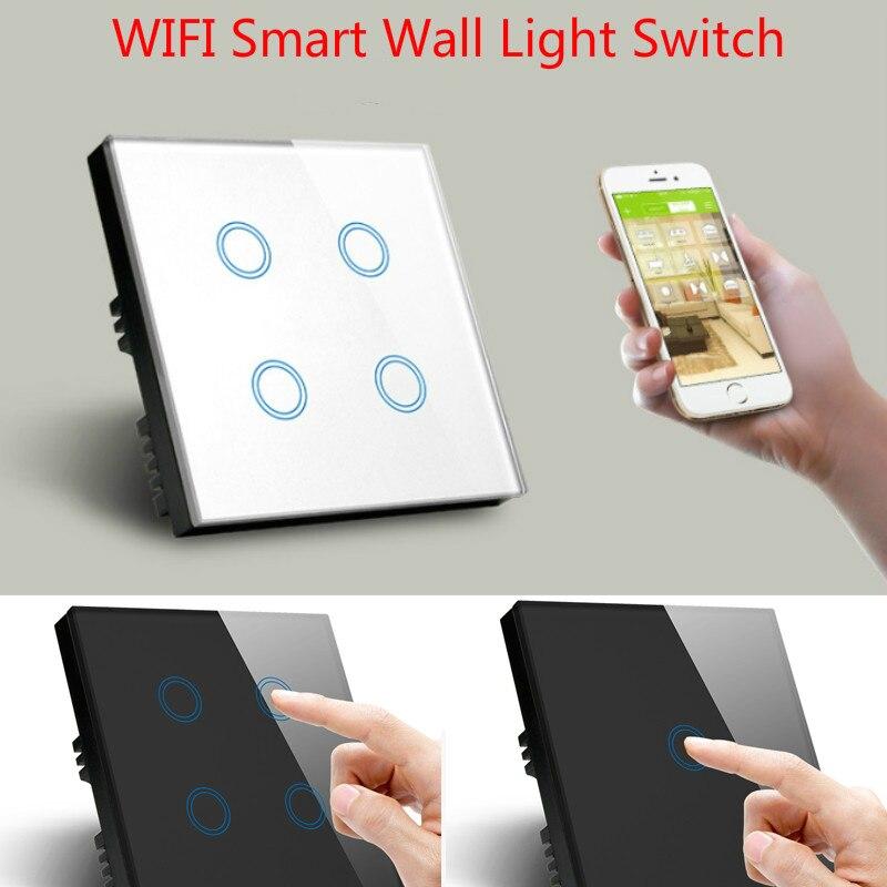 WiFi Wireless Wall Touch Switch Socket LED Light Switching Smart Automation Module UK EU Work with