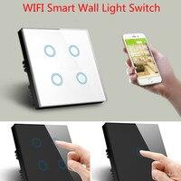 WiFi Wireless Wall Touch Switch Socket LED Light Switching Smart Automation Module UK EU Work with Amazon Alexa Echo Google Home