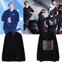 Mainlead KPOP EXO Zipper The EyXiOn Pullover BAEKHYUN Sweatershirt SUHO DO ARMY
