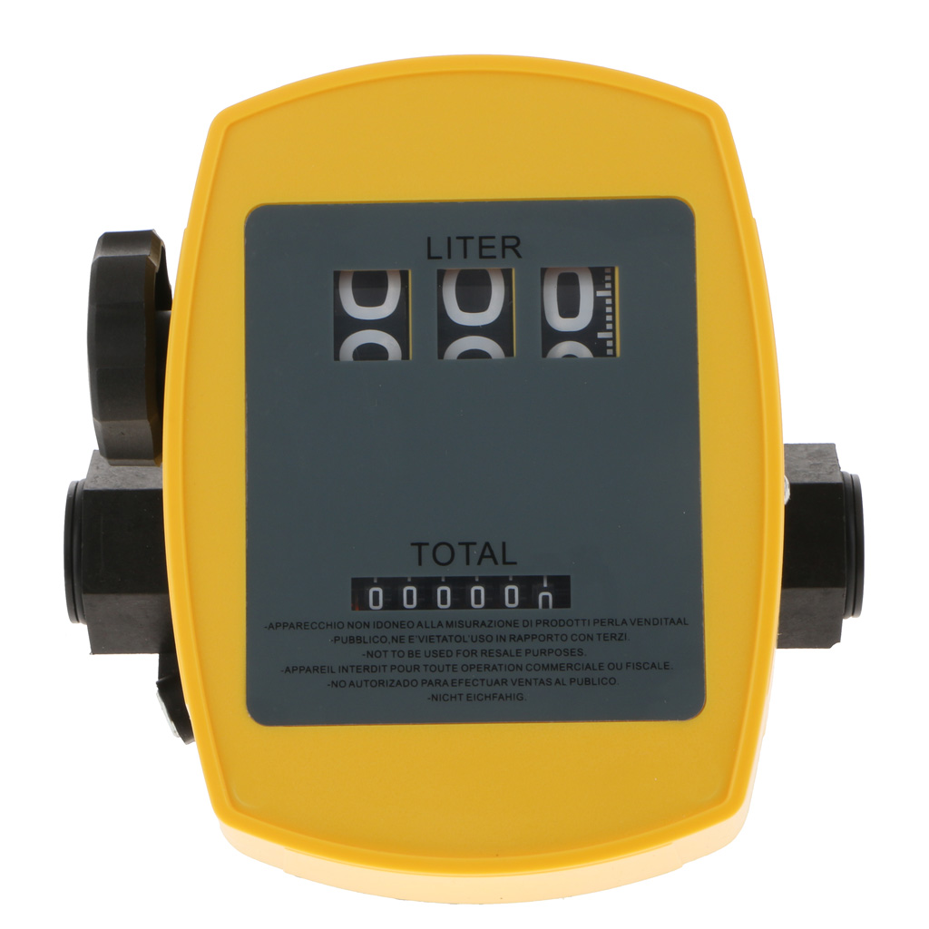 Petrol Diesel Oil Fuel Flow Meter Counter Mechanical Fuel Meter Of 1% High Accuracy 20-120L/min For Matching Oil Pump