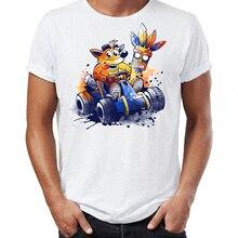 Männer T Shirt Bandicoot und Spyro PS Ära Legends Genial Darstellung Grafik Gedruckt T