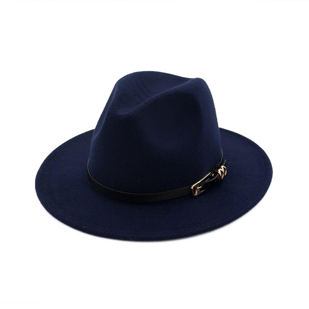 Special Felt Hat Men Fedora Hats with Belt Women Vintage Trilby Caps Woolen Fedora Warm Jazz Hat Chapeau Femme Feutre