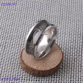 High quality Black plated Tungsten Carbide ring fashion Male ring for men Hardness greater than knife