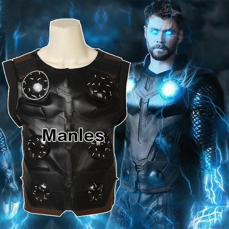 Avengers Infinity War Thor Cosplay Only Cloak Shirt Vest Pants Movie Superhero Costume Halloween Adult Customize Man Accessories