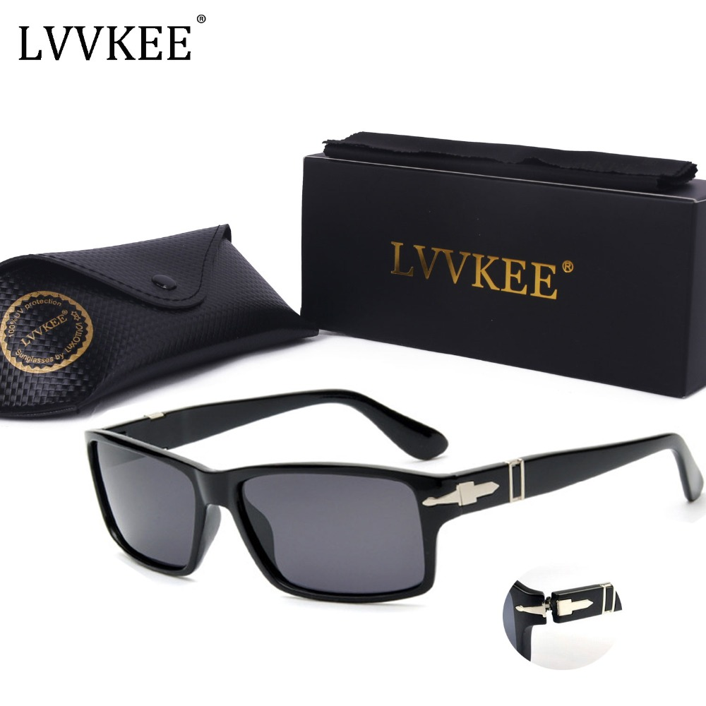 LVVKEE Brand Hot Polarized Driving Men Sunglasses Mission Impossible 4 Tom Cruise James Bond Style Sun Glasses Oculos masculino