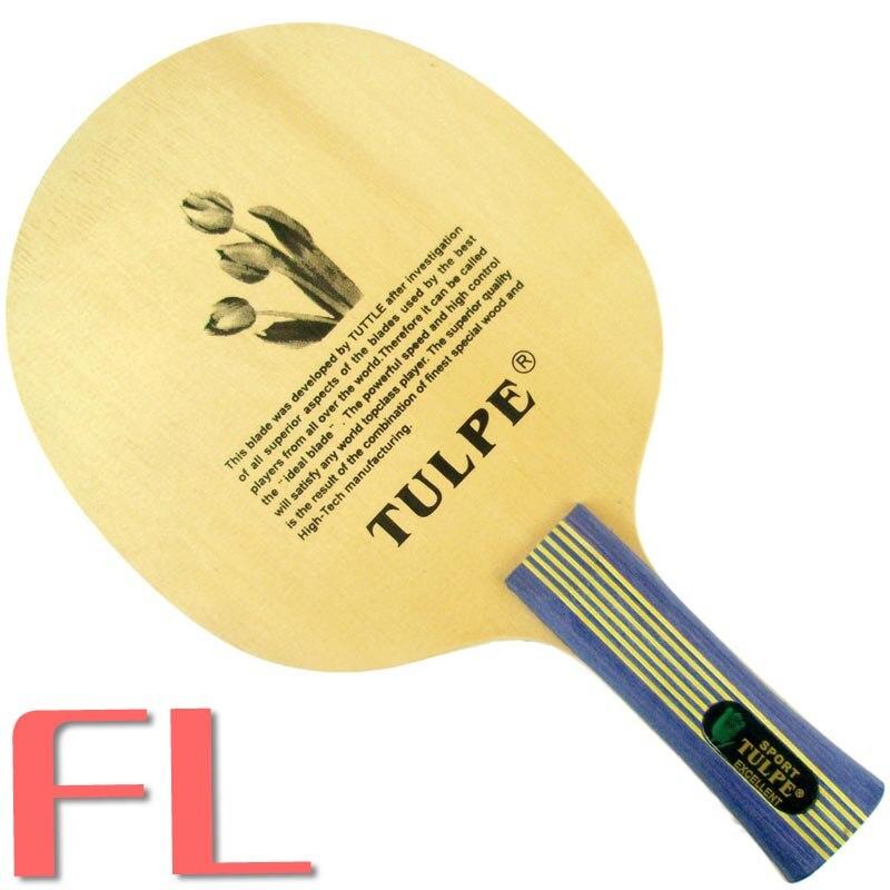 Tulpe T-7010 ракетка для настольного тенниса/pingpong blade - Цвет: FL  long handle