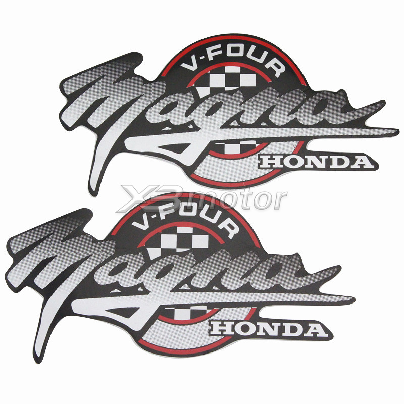 Honda Wings Logo Stickers//Decals Pair Red 5.5