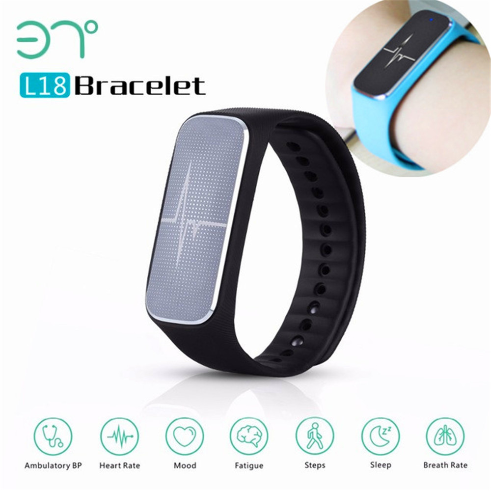 Newest 37 degree L18 Bluetooth 4.0 Smart Bracelet Watch Blood Pressure Heart Rat