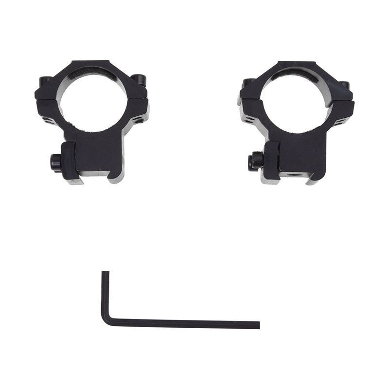 2 × rifle scope mount ring mount ring screws for 11mm rail metal(China)