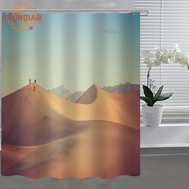 Desert Sand Dune Custom Shower Curtain Fabric Polyester Bathroom Curtain  Acceptable Custom Printed Shower Curtains In Shower Curtains From Home U0026  Garden On ...