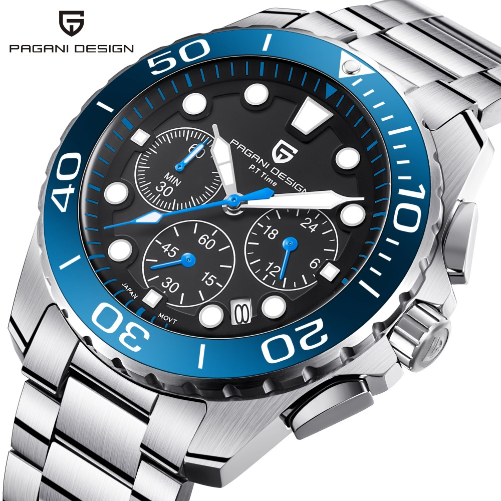 Watches Men Luxury Brand PAGANI DESIGN Sport Watch Dive Military Multifunction Waterproof Quartz Wristwatch Relogio Masculino oceanic ocl wristwatch dive computer w usb