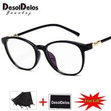 Clear Glasses Frame for Women Men Vintage frame Round Spectacle Transparent Optical Myopic Frames DesolDelos