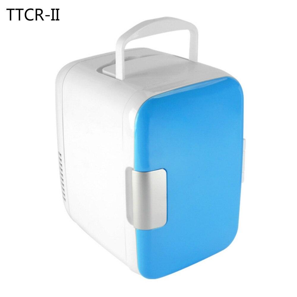imágenes para TTCR-II 4L 12 V 220 V Mini Car Enfriador Calentador Nevera Refrigerador Refrigerador Eléctrico Portátil de Viaje multifunción arcón Congelador