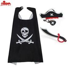 Специальный костюм пирата 70*70 см на заказ для детей, пластырь для глаз EVA игрушечный Нож Хэллоуин костюм фантазии платье детский подарок пирата для мальчиков