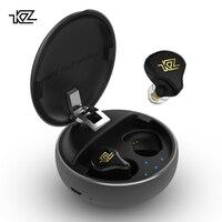 AK KZ T1 Bluetooth 5.0 TWS Wireless Hiybird Earphone Bluetooth Noise Cancelling Earphone Hifi In Ear Earbud KZ AS12/AS16/ZSN PRO