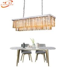 Modern Luxury Odeon Crystal Chandelier Lighting Retro Nordic LED Hanging Light K9 Prism Lamp