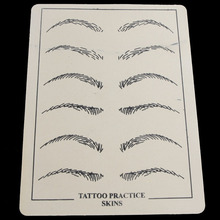 10pcs/pack Permanent Makeup 20x15cm Eyebrow Tattoo Practice Skin Maquillage Fake Eye Tattoo Practice Skin For Microblading