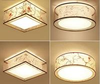 Потолочный светильник/света в китайском стиле потолок спальня лампа книга комнате свет круглый квадратный ручная роспись лампы