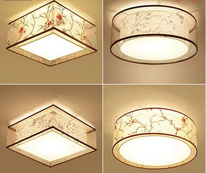 ceiling lamp / light Chinese-style ceiling of the bedroom lamp book room lights round square hand-painted lamps
