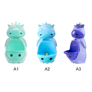 1pc Animal Cartoon Cow Design Baby Boy Potty Toilet Urinal Pee Trainer Wall-Mounted Kids Potty Toilet Training Stand