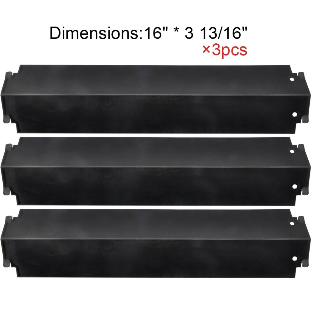 BBQ Parts 93321(3-pack) Porcelain Steel Heat Shield Replacement for Charbroil 463260707 Gas Grill Replacement Heat Plates