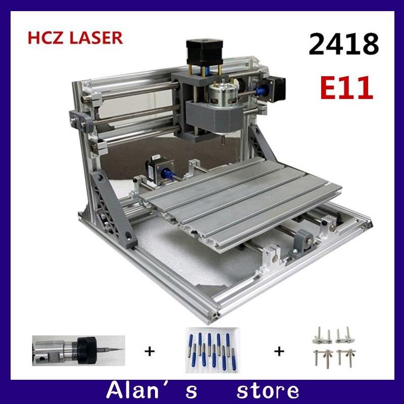 CNC bricolage 2418 ER11 GRBL contrôle mini CNC machines-outils, fraiseuse de carte PCB, laser gravure machine à bois routeur meilleurs jouets