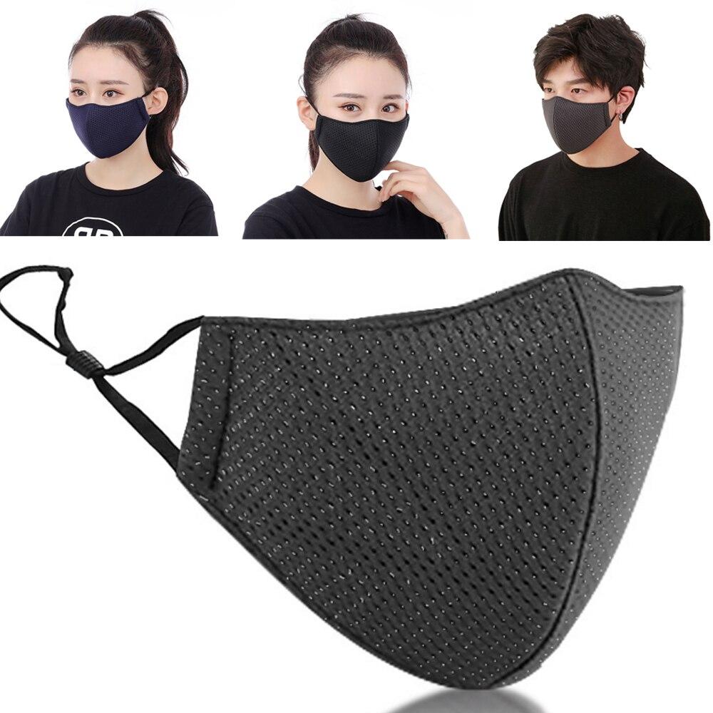 1 Pcs Mode Mund Maske Unisex Sommer Sonnencreme Atmungs Dünne Mesh Baumwolle Staub Atmen