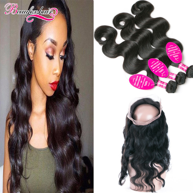 Malaysian Body Wave With Frontal 3 Bundles Peerless Malaysian Virgin Hair With Closure Body Wave 360 Lace Frontal With Bundles