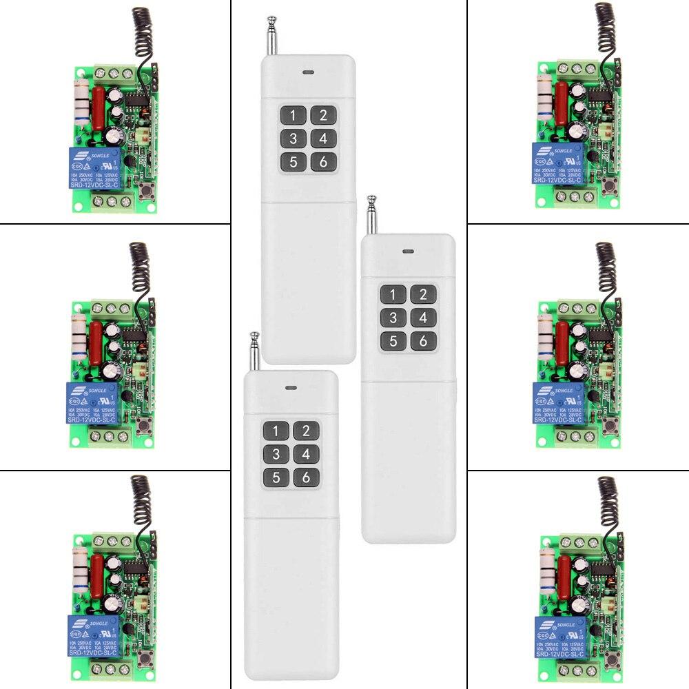 3000m AC 220V 110V 1 CH 1CH RF Wireless Remote Control Switch System, 3X 6CH Transmitter + 6 X Receiver,Toggle,315/433.92 3000m ac 220v 110v 1 ch 1ch rf wireless remote control switch system 8ch transmitter 8 x receiver toggle momentary 315 433 92
