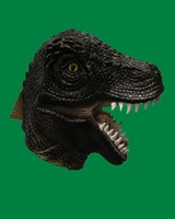 Deluxe Realistic Animal Mask Over Head Size for Adult's Party Popular Dinosaur Costume Mask