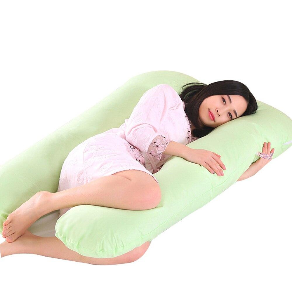 100% Cotone Maternità Supporto Gravidanza Cuscino Completo Del Corpo Cuscino Per Le Donne Incinte In Gravidanza Side Sleeper Lavabile Adatto Per Uomini, Donne E Bambini