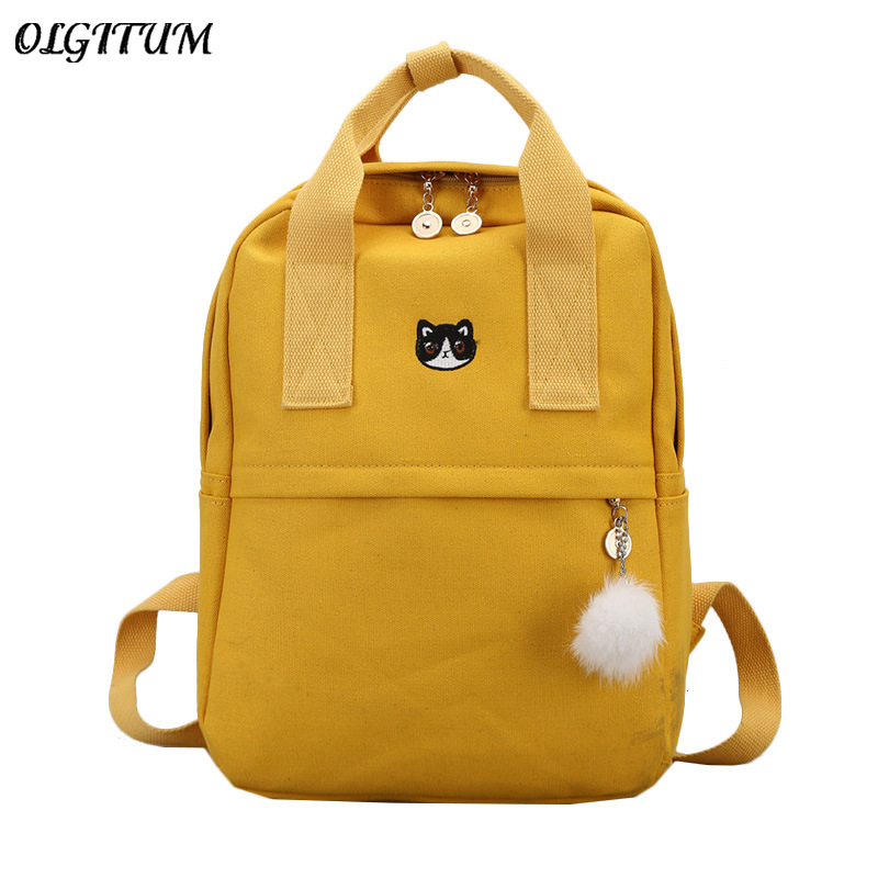 New Cute Canvas Backpack Fashion Women Backpack
