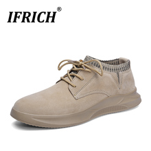 2019 Hot Sale Men Casual Sock Shoes Rubber Soles Comfortable Casual Shoes Spring Autumn Leather Sneakers Men Shoes Luxury Brand недорго, оригинальная цена